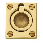 Baldwin 0392 1-1/4 Inch x 1-1/2 Inch Flush Ring Pull
