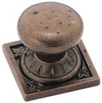 """Amerock BP4484RBZ Rustic Bronze 1 1/4"""" Knob from the Ambrosia Collection"""
