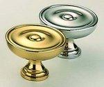 Omnia 9136/40 1-9/16 Inch Diameter Solid Brass Knob