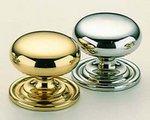 Omnia 9158/30 1-3/16 Inch Diameter Solid Brass Knob