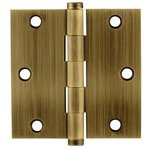Emtek 96113 3-1/2 Inch x 3-1/2 Inch Residential Duty Solid Brass Hinge with Square Corners (Sold in Pairs)