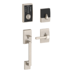 Schlage FE375 CEN/BRW LH Century Touch Screen Handleset with Broadway Lever for Left Handed Doors