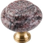 Top Knobs M125 Paradiso Granite 1 3/8' With Brass Base  from the Chateau Collection
