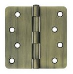 Deltana S44R4 Residential 4 Inch x 4 Inch Steel Hinge with 1/4 Inch Radius Corners (Sold in Pairs)