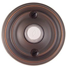 Emtek 2400 Brass Doorbell Button with Regular Rosette