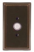 Emtek 2403 Brass Doorbell Button with Rectangular Rosette