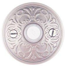 Emtek 2406 Brass Doorbell Button with Lancaster Rosette