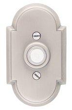 Emtek 2408 Brass Doorbell Button with #8 Rosette