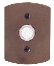 Emtek 2424 Sandcast Bronze Doorbell Button with #4 Rosette