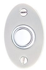 Emtek 2462 Brass Doorbell Button with Small Oval Rosette