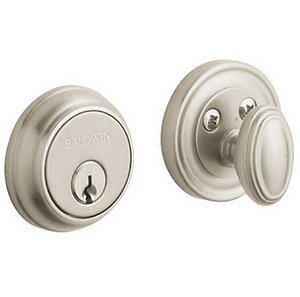Baldwin 8031 Estate Traditional Single Cylinder Deadbolt for 1-5/8 Inch Bore Hole