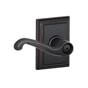 Schlage F40fla Add Flair Privacy Leverset With Addison