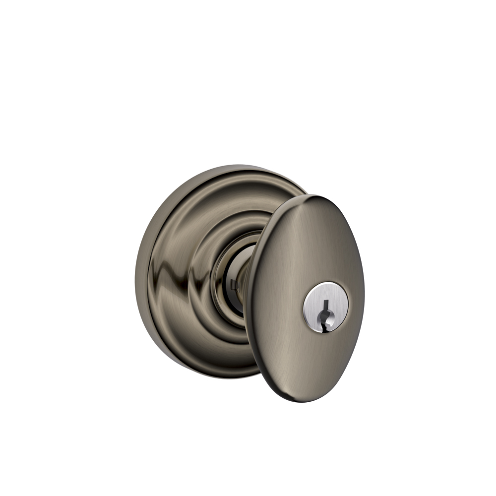 Schlage F51sie And Siena Keyed Entry Knobset With Andover